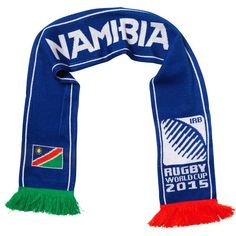 Namibia - Rugby WC 2015 Scarf Ideal Gift for all Rugby Fans Scarf Dimensions x approx Brand New with Tags - Header Card Official Licensed Snood Scarf, Bandana Scarf, Uruguay Flag, Skull Scarf, Flag Logo, Tube Scarf, Full Face Mask, Rugby World Cup, Flag