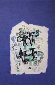 "Ynez Johnston, Rounding the Shoal, 1971, Oil on canvas, 30"" x 20"""