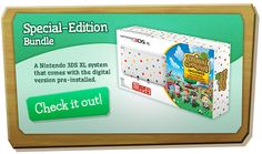 Nintendo 3DS XL system that comes with the digital version of Animal Crossing New Leaf pre-installed. Check it out! Available at Toys R Us, Best Buy and Game Stop. Coming June 9th.