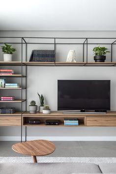 Apartamento LN – Interiores Residencial in 2020 Living Room Tv, Small Modern Home, Living Dining Room, Home And Living, Living Room Designs, Home Living Room, Home Furniture, Living Decor, House Interior