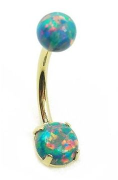 Opal Birthstone Belly Ring!!! I dont have a belly piercing but this is beautiful Check out Dieting Digest