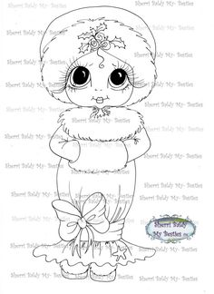 INSTANT DOWNLOAD Digital Digi Stamps Big Eye Big door SherriBaldy