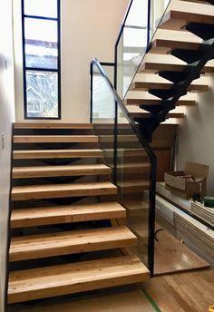 Interior Railings Vancouver - Aluminum Guardrail & Handrails (Commercial / Residential) - Metro Vancouver Railings Glass Stair Balustrade, Vancouver, Interior Railings, Glass Stairs, Commercial, Modern Glass, Staircase Design, Studio, Home Decor