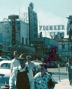Downtown Las Vegas, 1951. Glass slide scan by Todd Franklin