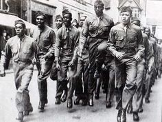 Black American GIs, Park Street, Bristol - During World War II
