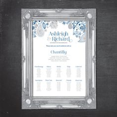 Table Seating Plan Poster  Digital File  Eden by TheLovePaperCo, £35.00