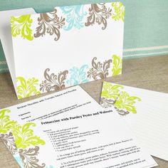 cute recipe card printables