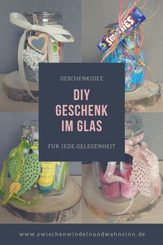 DIY – Geschenke im Glas DIY – Gifts in the glass – Between wonder and madness Diy Gifts In A Jar, Jar Gifts, Holiday Break, Holiday Time, Diy Cadeau Noel, Presents For Men, You Are The Father, Birthday Presents, Gift Baskets