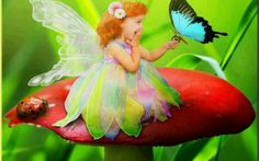 ..all my favorite stuff..lady bugs..fairy..butterflies..and the feeling...