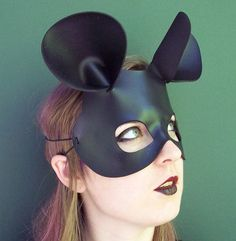 Mouse mask leather
