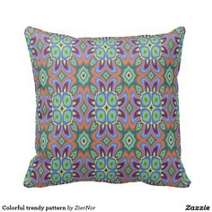 Colorful trendy pattern pillows