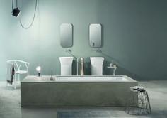 Wave: la vasca da bagno in ecocemento http://www.differentdesign.it/2014/07/23/wave-vasca-bagno-in-ecocemento/ #Wave è una linea di #vasche sottopiano da rivestire con bacino rettangolare inglobato in una struttura di polistirene espanso_EPS che ne permette il variare di #forme e #tipologie.