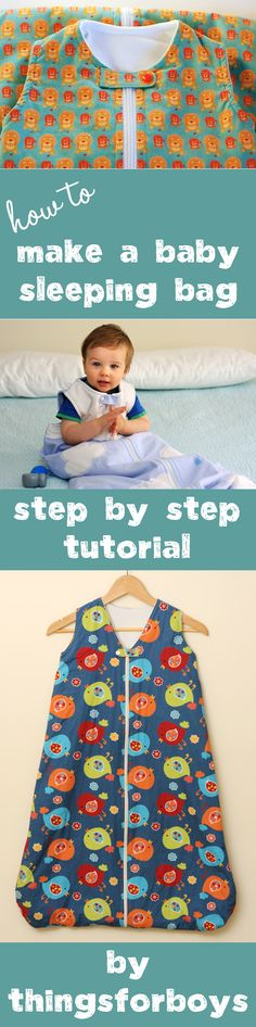 Tutorial to make a baby sleep sac                                                                                                                                                                                 More