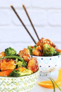 General Tso's Tofu with Vegetables|Craving Something Healthy #stir-fry #Asian #tofu #vegan
