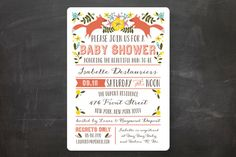 Les Renards Baby Shower Invitations by Bonjour Paper at minted.com