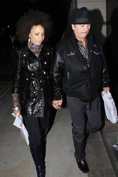 Carlos Santana and his wife Cindy Blackman return to their London hotel on the…