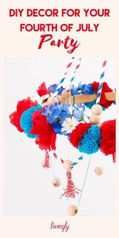 Click ahead for a series of DIY decor that will have your Fourth of July party looking firework ready! 4th Of July Parade, Fourth Of July, Party Needs, Craft Party, Fireworks, Easy Diy, Picnic, Decorations, Outdoor