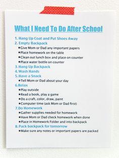 After school schedule help?