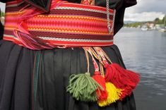 Belt to Beltestakk from Telemark Folk Costume, Costumes, Textile Fabrics, Printing On Fabric, Scandinavian, Dress Up, Belt, Clothes For Women, Women's Clothing