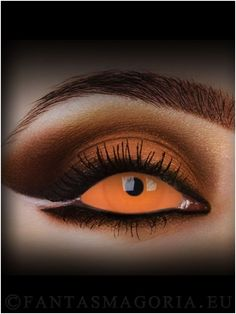 Caliban sclera contact lenses - orange (pair) APP.VALIDITY AFTER OPENING: 12 month WHEN WEARING ON A DAILY BASIS: 3 month http://www.fantasmagoria.eu/accessories/cosmetics-makeup/contact-lenses #crazy lenses #lenses #sclera contacts