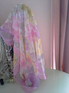 Delicate Vintage Cornelia James Scarf - Pink-  Free Shipping by VintageSuffolk on Etsy