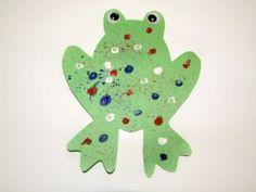 Speckled Frog Preschool Spring Craft