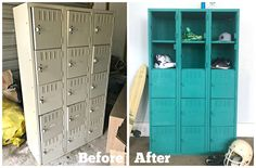 [d]Painting a salvaged set of metal lockers is easier than you may think![/d][d][br][/d][d][br][/d] [d][br][/d][d][br][/d][d]Okay, let me start of by saying EAS…