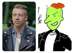 """Macklemore to his barber: """"Give me the Roger Klotz"""" - http://geekstumbles.com/funny/lolsnaps/macklemore-to-his-barber-give-me-the-roger-klotz-2/"""