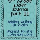 New!!! Test Prep-Part 2!! Teach your students to use math language/vocabulary in their written, extended responses. This math journal includes 18, open-ended (extended res...