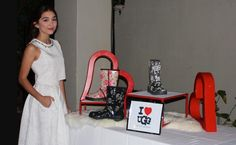 Rowan Blanchard taking a photo with another sponsor I Heart Ugg at her birthday party!!!,
