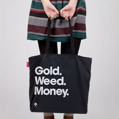 Gold Weed Money Tote, $19.50, now featured on Fab.