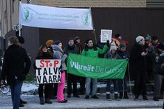 Local people gather to say stop Talvivaara.