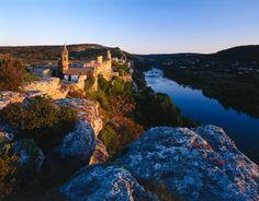 Aigueze Over Ardeche Valley, Gorges De L'Ardeche, Languedoc-Roussillon, France - eStock