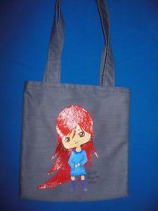 """Hand-painted Tote Bag """"Ada"""""""