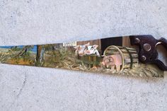 Image result for Hand Painted Saws with Cabins