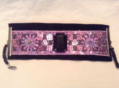 Black and Purple Sequined Cuff by BeccasjamsandCrafts on Etsy https://www.etsy.com/listing/221654421/black-and-purple-sequined-cuff