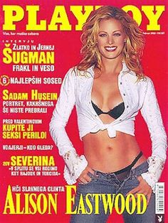 Playboy (Slovenia) February 2003 with Alison Eastwood on the cover of the magazine Alison Eastwood, Single Image, Playboy, February, Magazine, Bra, Best Deals, Cover, Swimwear
