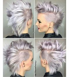New Best Pixie Haircut Ideas For 2019 neue beste Pixie-Haarschnitt-Ideen für 2019 Haircuts For Wavy Hair, Mohawk Hairstyles, Hairstyles With Bangs, Punk Pixie Haircut, Pixie Mohawk, Hairstyle Short, Punk Pixie Cut, Short Punk Haircuts, Short Hair Mohawk