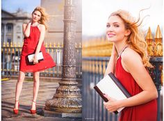 http://thefashionscreen.com/wooden-clutch/  Today Im wearing an elegant outfit: a red dress and a super wooden clutch.  Its wood, but worked in a very chic way, as you can see from the pictures. There was a lot of wind but turned out to be very dramatic!  #chic #reddress #red #wood #clutch #parisian