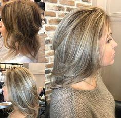 Natural silver blonde - New Ideas Ombre Hair, Balayage Hair, Blonde Hair, Grey Hair Transformation, Medium Hair Styles, Short Hair Styles, Grey Hair Coverage, Gray Hair Highlights, Grey Hair Inspiration