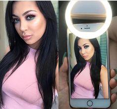 Flawlessly bring.com - Clip on selfie light ring