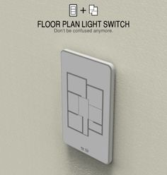 Floor Plan Light Switch - It can be challenging to remember which is which in a panel full of light switches. But the switches in the Floor Plan Light Switch are customized as per the floor plan of the room and function likewise. Alternative Energie, Take My Money, Do It Yourself Home, My New Room, My Dream Home, Future House, Just In Case, Home Improvement, Floor Plans