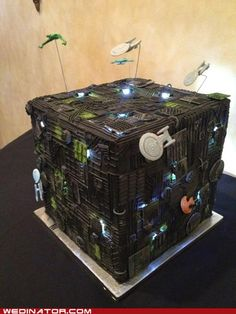 Borg wedding cake. Assimilate in my mouth. Resistance to their love is futile.