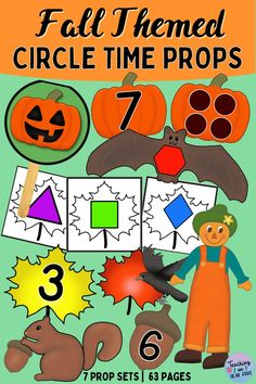 These 7 different Autumn-themed Fall prop sets will add some fun Fall engagement to your preschool circle time.