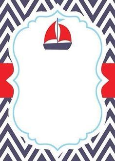 8 Best Syahmi Images Baby Shower Nautical Invitations