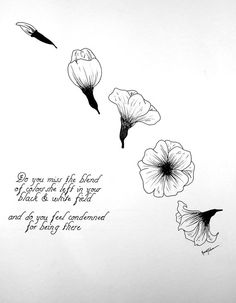 Brand New  Sowing Season Flower Illustration by PaperSchemes, $10.00
