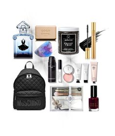 """Stocking fillers ❄️"" by jxssiee on Polyvore featuring Urban Decay, Guerlain, Little Barn Apothecary, Yves Saint Laurent, Bobbi Brown Cosmetics and Moschino"