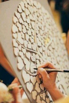 Fun Wedding Guest Book Ideas - rustic wood tree wedding guest book ideas #weddings #wedding #weddingideas #weddingguestbooks #deerpearlflowers