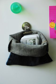 Clean Jean Pick-Up Pouch  The Office Pocket : family chic