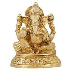 Handmade Indian Brass Religious Items Indian Decor Ganesha Statue Hindu Temple Puja 5 inch ShalinIndia http://www.amazon.in/dp/B00YN4GP1C/ref=cm_sw_r_pi_dp_NaU3vb0SXQVBK
